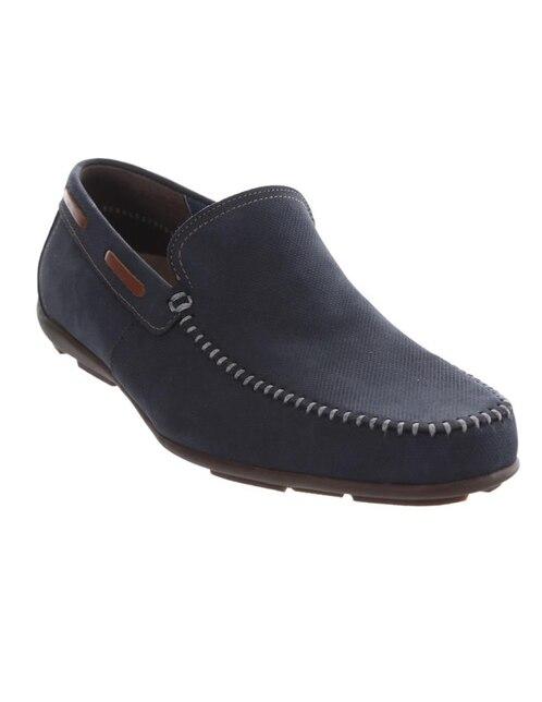 Mocasín Flexi Zapato Zapato Piel Flexi Mocasín Azul mwv8yN0nO