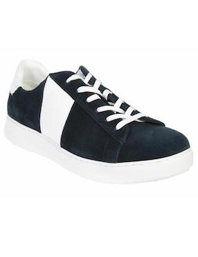 18cfc8161d3eb Tenis Calvin Klein gamuza azul obscuro ...