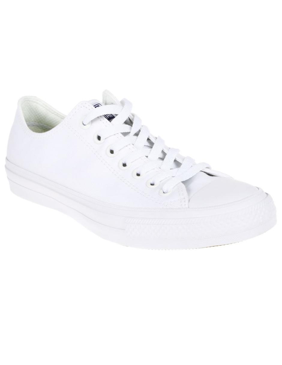 13e1b6964bef6 Converse Tenis Chuck Taylor II Ox Blancos Precio Lista
