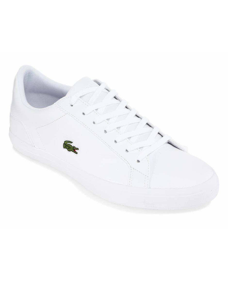 eb256f58dc7 Tenis Lacoste piel blanco