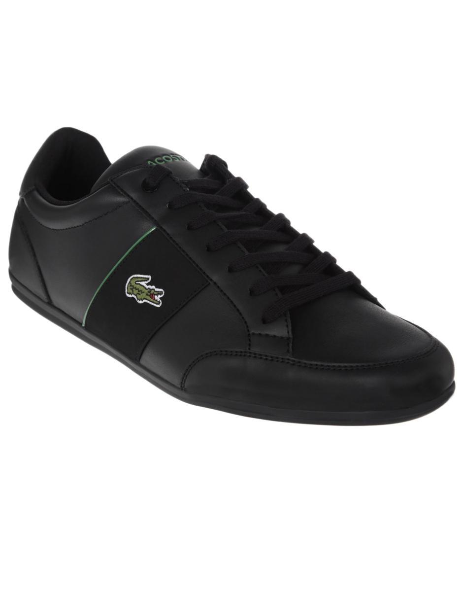 9c71d6c36e925 Tenis Lacoste piel negro