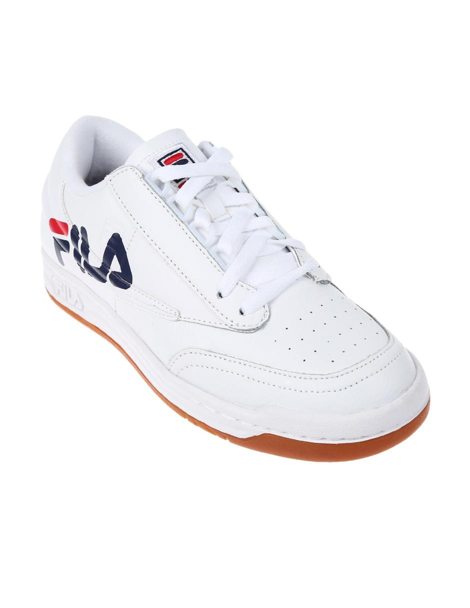ea615449f4a Tenis Fila piel blanco