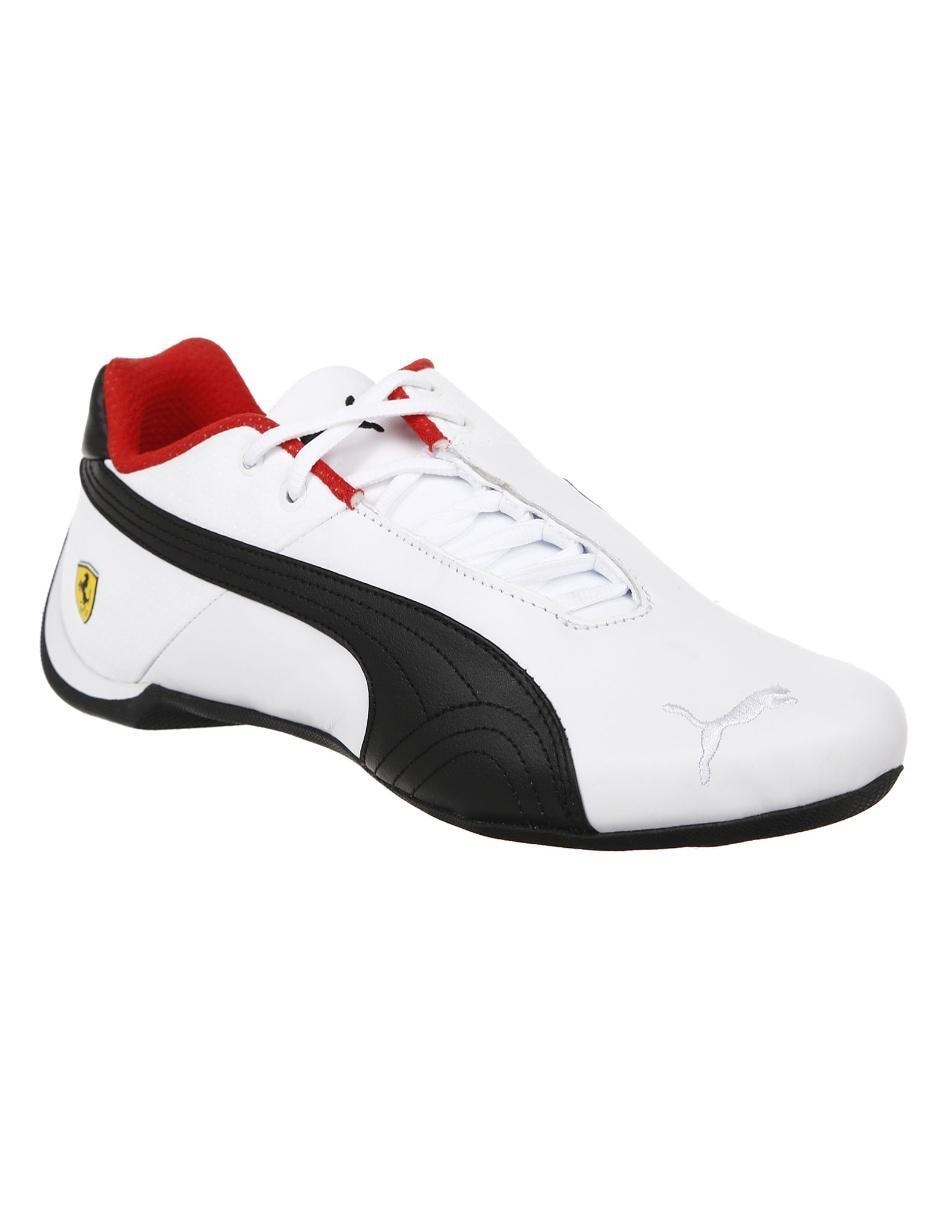 dc305dc8012 Tenis Puma Ferrari piel blanco
