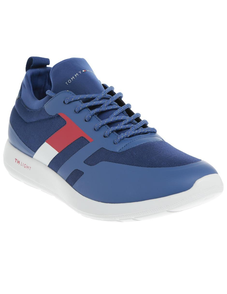 3773a8dc8b9 Tenis Tommy Hilfiger azul eléctrico