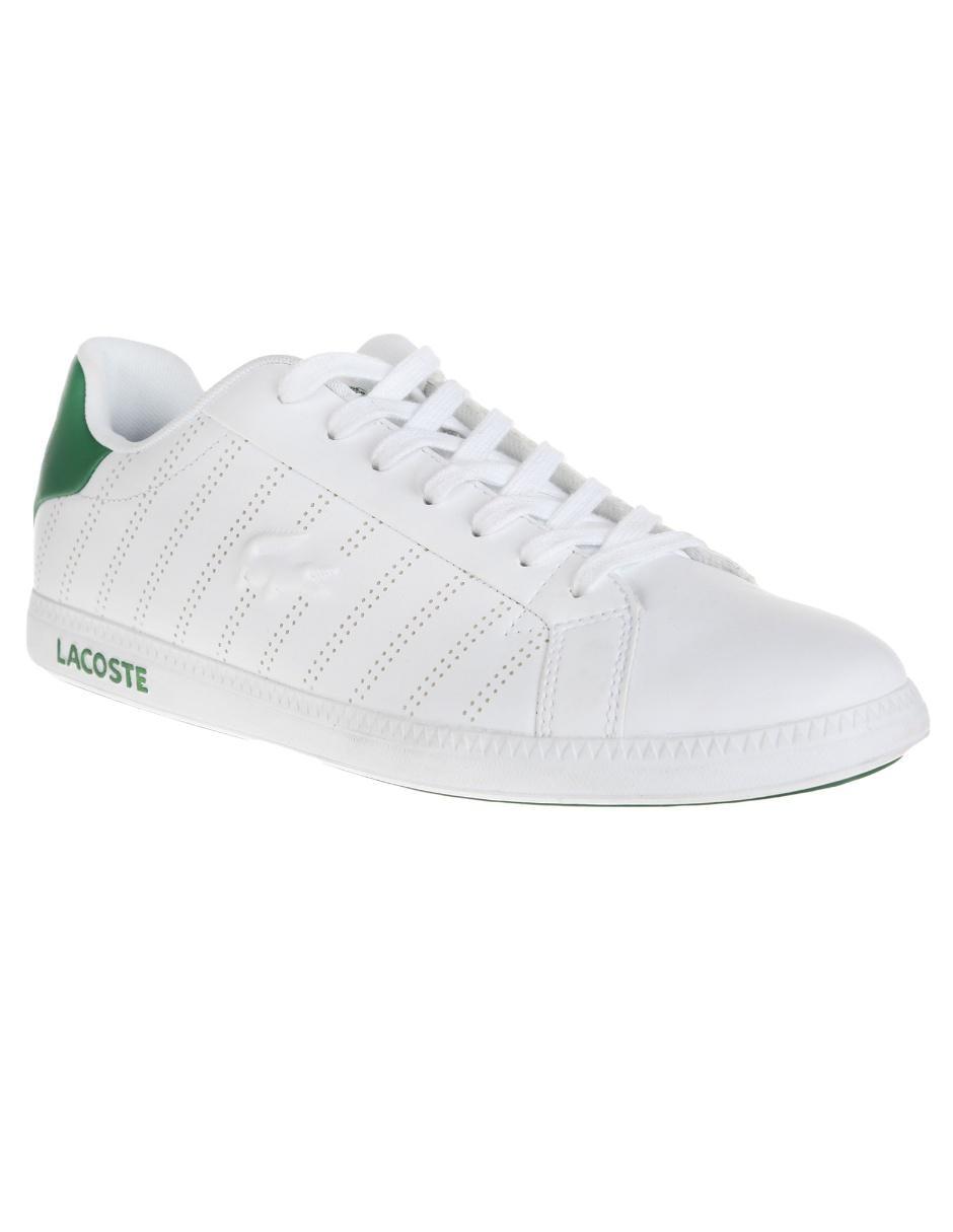 674d2596dd1 Tenis Lacoste piel blanco