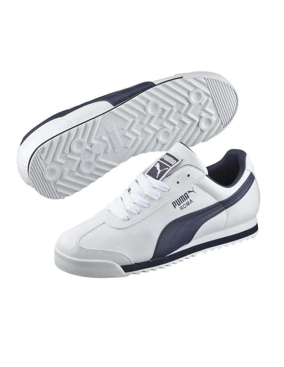 Tenis Puma Roma Basic piel blanco