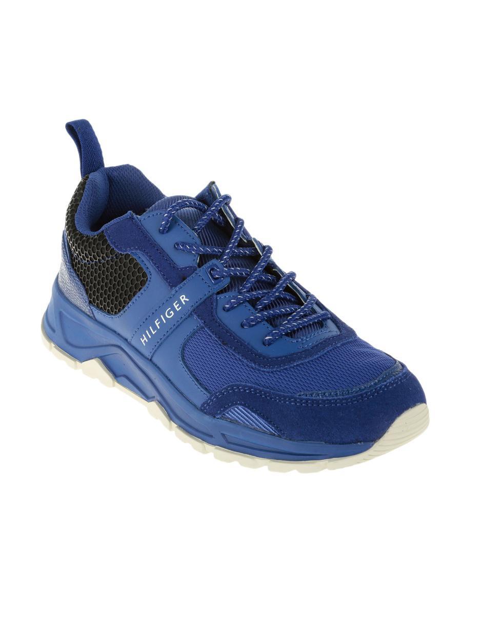 53ed533bbcf Tenis Tommy Hilfiger gamuza azul eléctrico