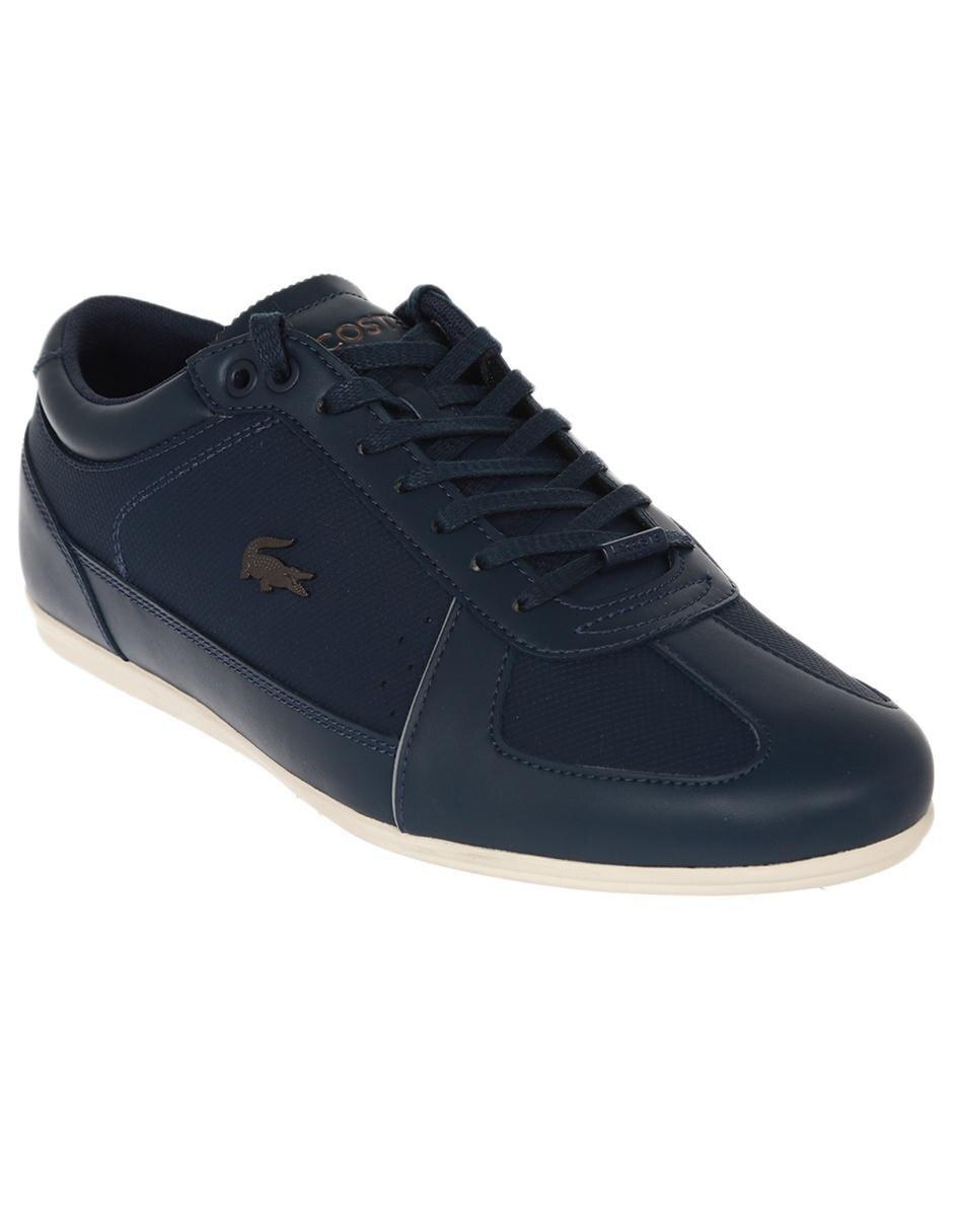 1d354161e27 Tenis Lacoste piel azul marino