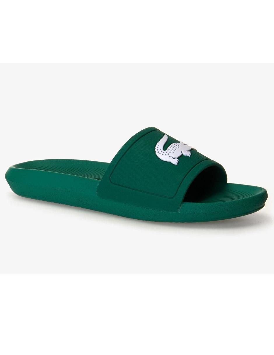 venta minorista a8a3a 9ca96 Sandalia Lacoste verde punta redonda