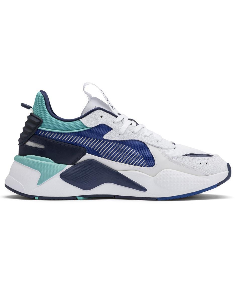 zapatos puma mujer blanca y azul